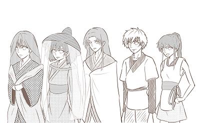 【朝姫】キャラクターラフイラストを追加しましたー!